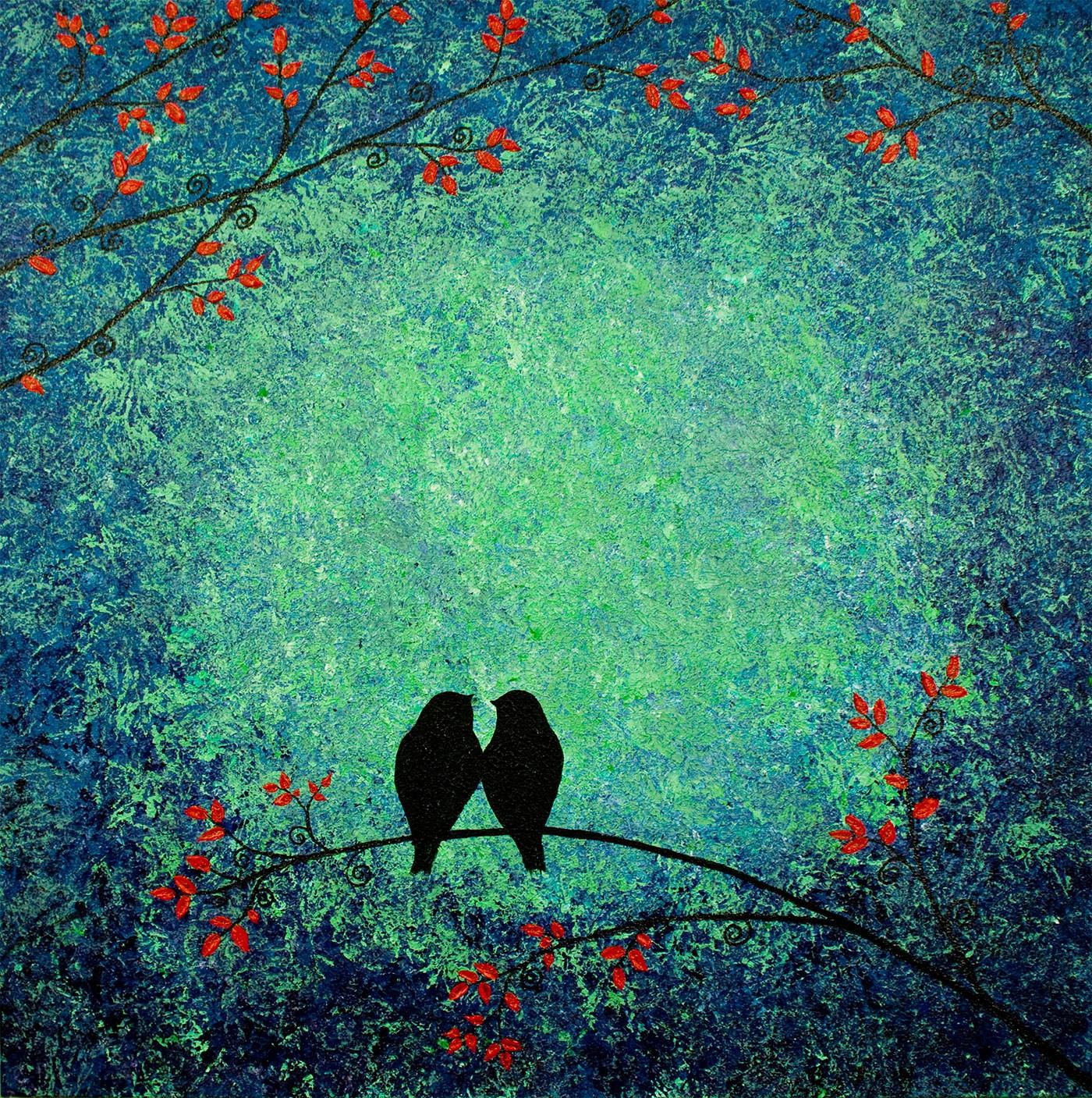 Lovebirds in Bloom